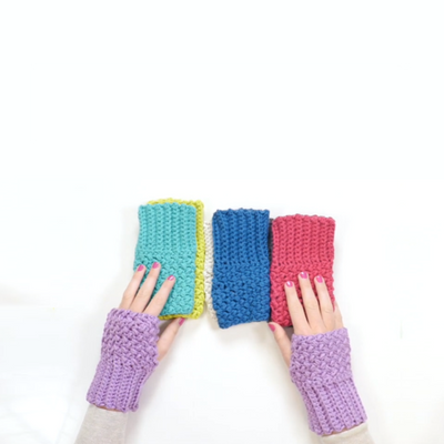 Elizabeth Stitch Fingerless Gloves Crochet Pattern