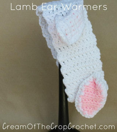 Lamb Ear Warmers Crochet Pattern