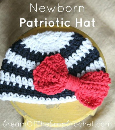 Newborn Patriotic Hat Crochet Pattern