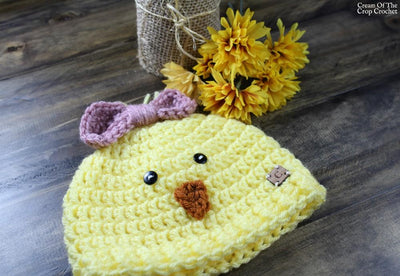 Trinity the Chick Hat Crochet Pattern