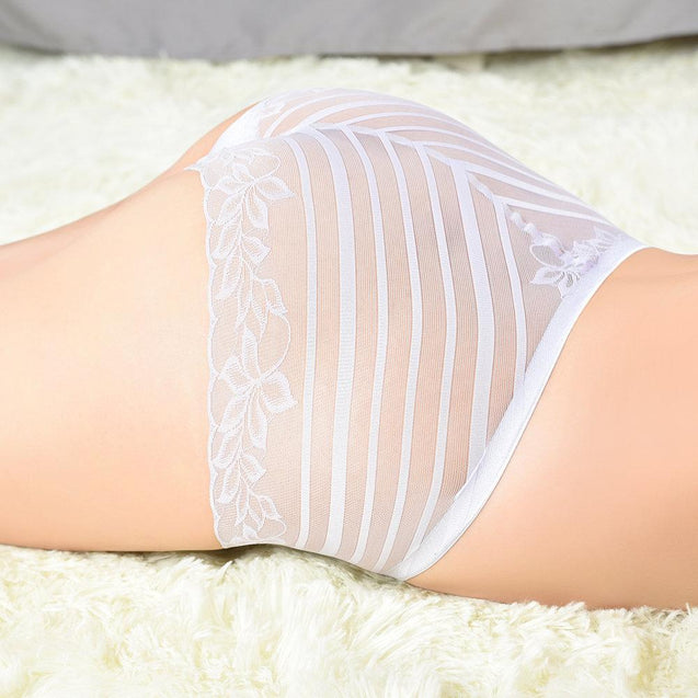 See Through Mesh Seamless Breathable Mid Waist Panties