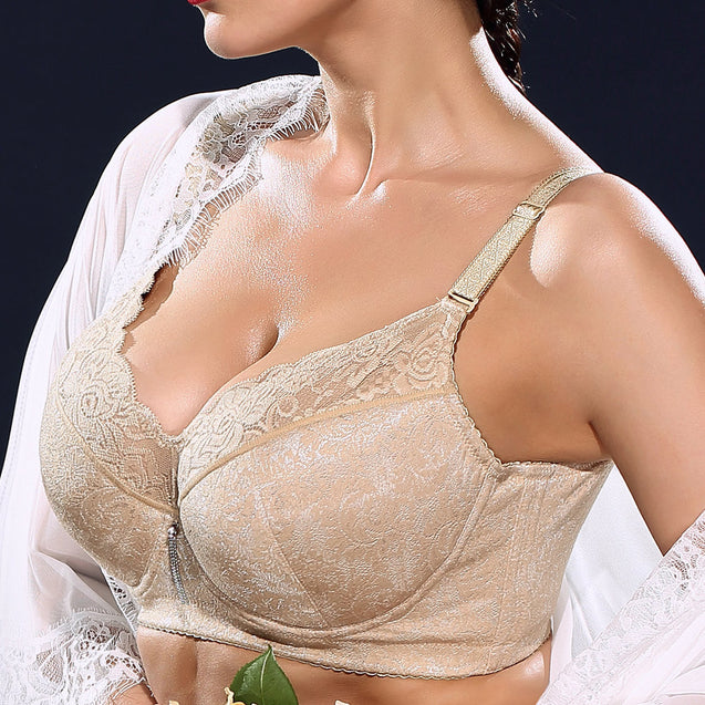 Plus Size Lace Embroidered Minimizer Full Busted Bras