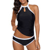 Halter Sleeveless Black Swimwear Top and Panty
