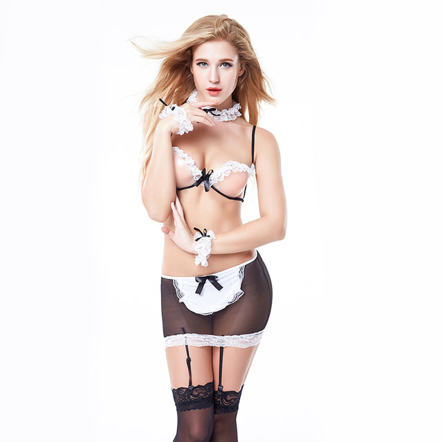 Role Play Sexy Costume Housekeeper Lingerie