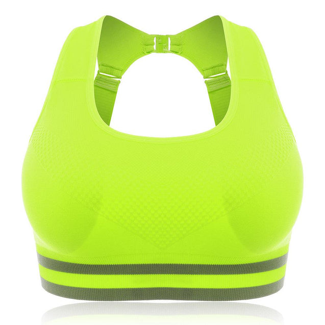 Wireless  Shockproof Hollow Back Adjustable Sports Bras