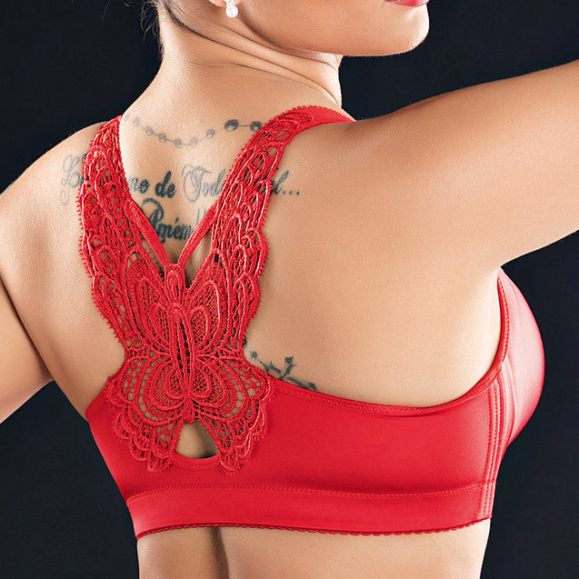 Front Buckle Bra Seamless Cotton Adjustable Bra