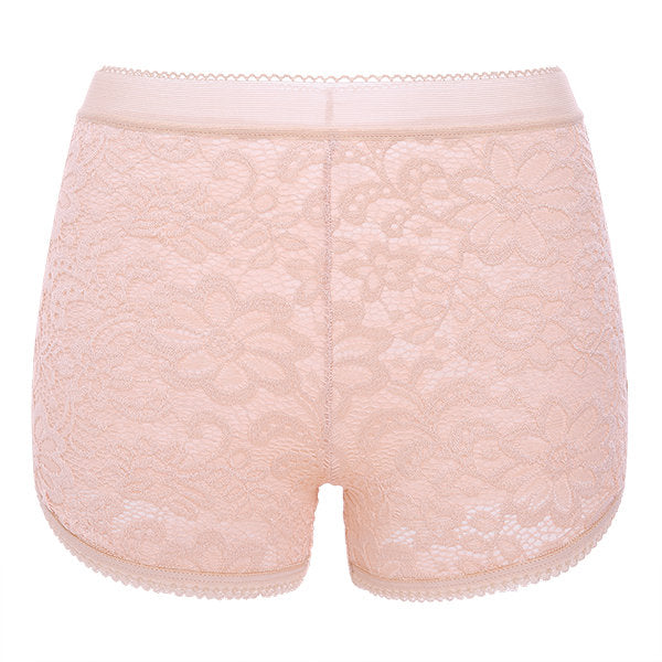 Sexy Lace Embroidered Thin Breathable Mid-rise Shorts Women