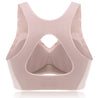 Wireless Hollow Gather T-Shirt Yoga Sports Full Cup Bra