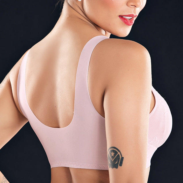 Zip Front Push Up Wireless Full Coverage Bras