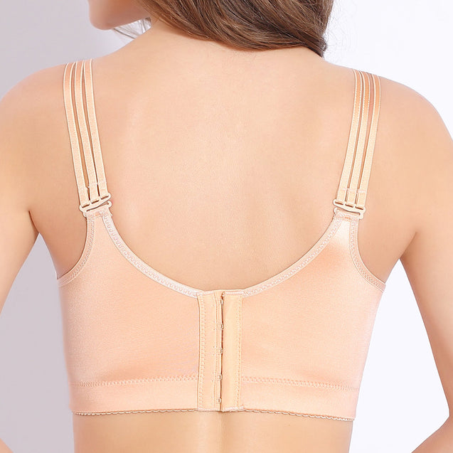 Wireless Front Drawstring Side Support Massage Bras