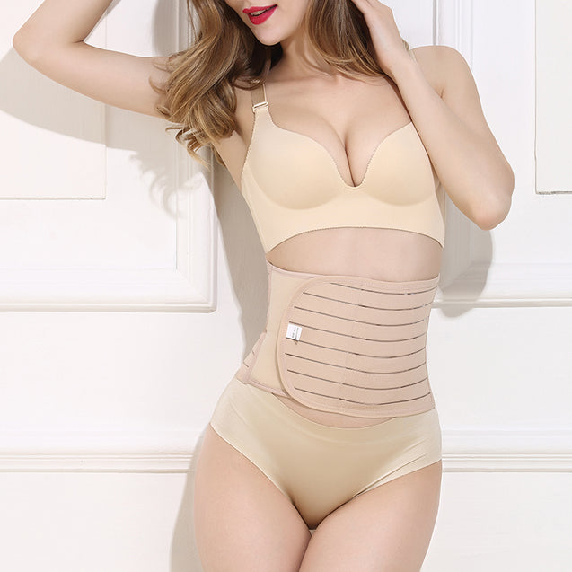 Magic Tape Soft Alloy Bone Breathable Body Shaping Girdle For Women