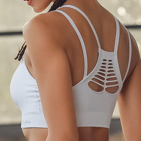 Breathable Hole Yoga Shockproof Hollow Out Sports Bra
