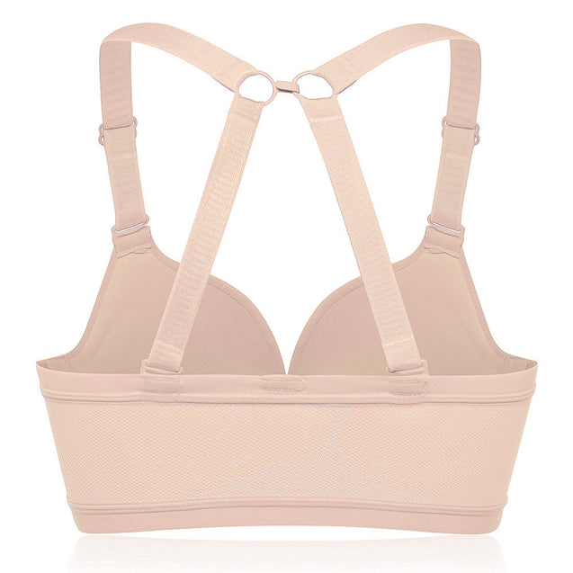 Front Closure Wireless Soft Criss-cross Strap Bras