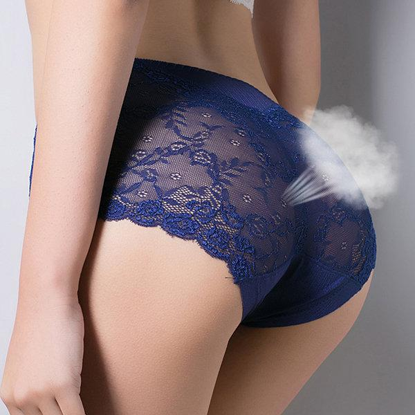 Silky Lace Sexy Breathable Comfy Mid Waist Panties For Women