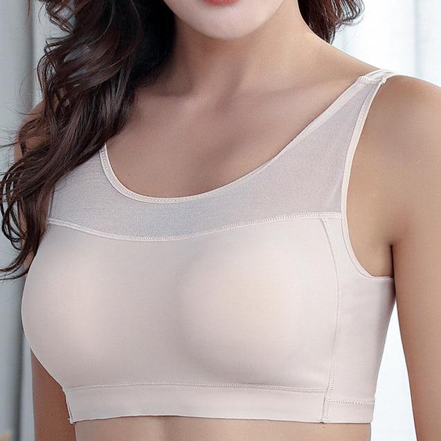 Seamless Mesh Push Up Removable Padding Soft Yoga Sleep Bras