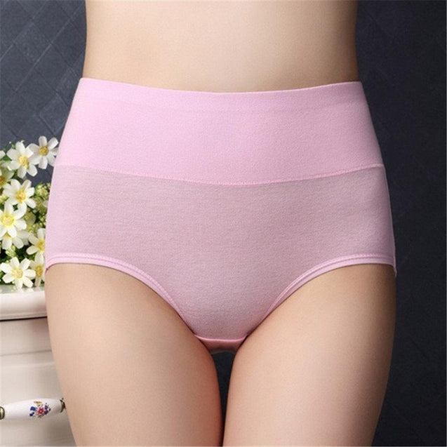 High Waisted Cotton Hip Lifting Tummy Control Panties