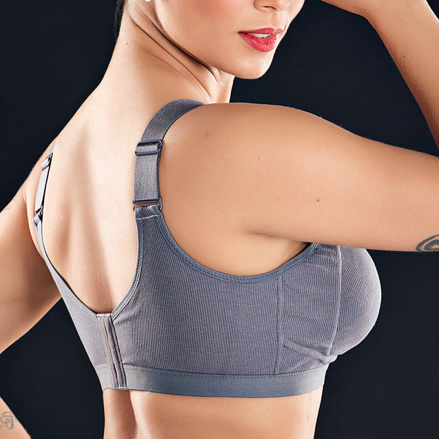Zip Front Wireless Full Coverage Cotton Lining Soft Bras