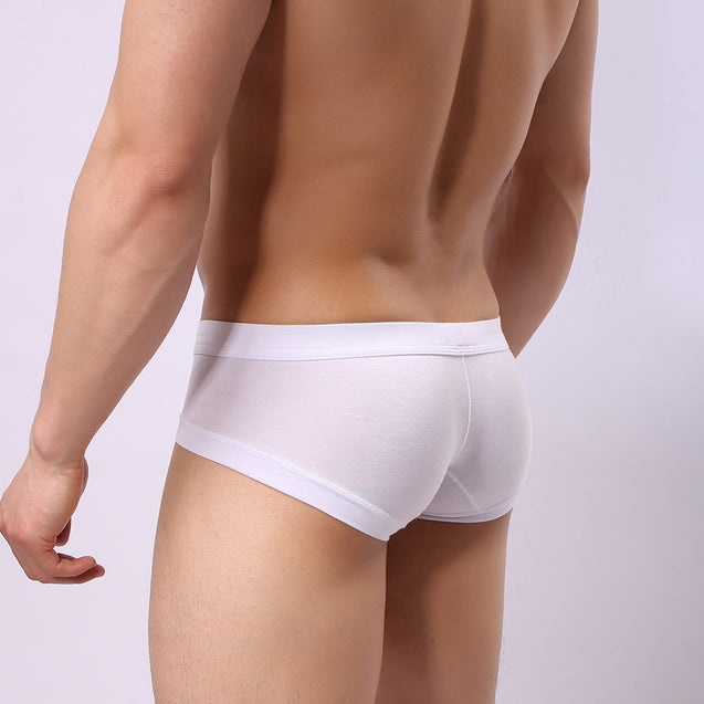 Sexy Solid Color Breathable Modal Elastic Fiber Soft Underwear For Men