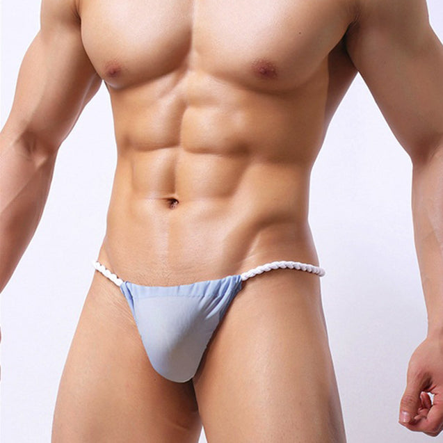 Sexy G String Underwear Ice Silk Binding Sumo Thongs for Men