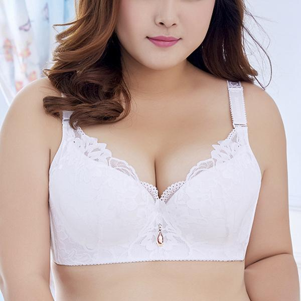 Plus Size Lace Gathering Bra
