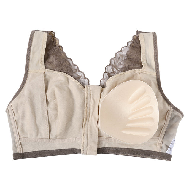 Zip Front Lace Wireless Cotton Lining Lightly Lined Removable Padding Sleep Bras