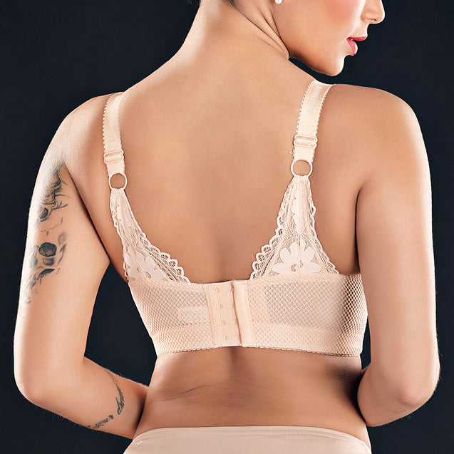 Lace Thin Non-Padded Wireless Full Coverage Bras