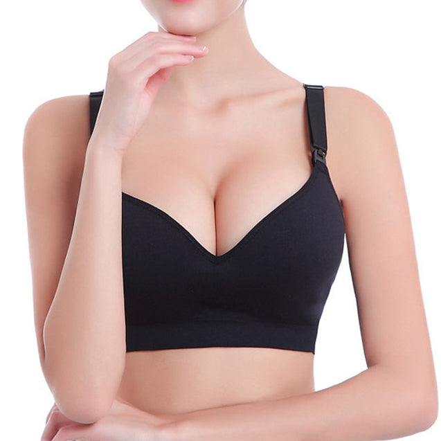 Seamless Wireless Maternity Soft Breathable Nursing Bra