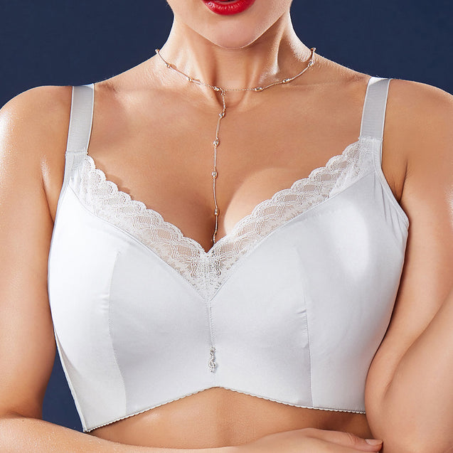 Push Up Lace-trim Side Support Bra