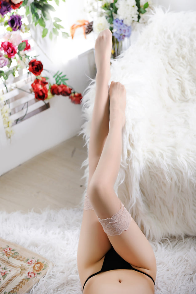 Women Lace Thigh High Stockings