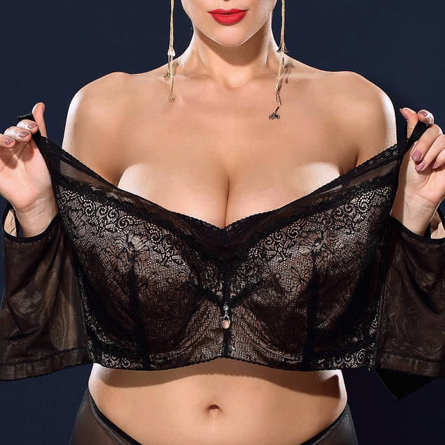 Lace Push Up Busty Unlined Minimizer Bras
