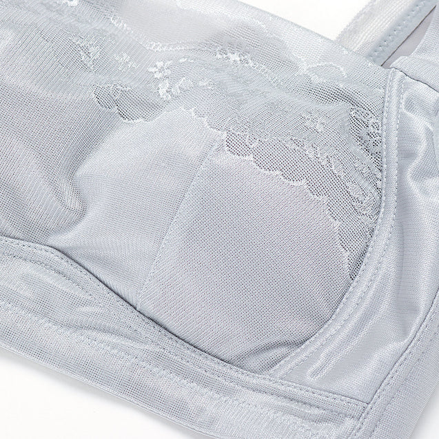 Embroidery Wireless Cotton Lining Soft Bra