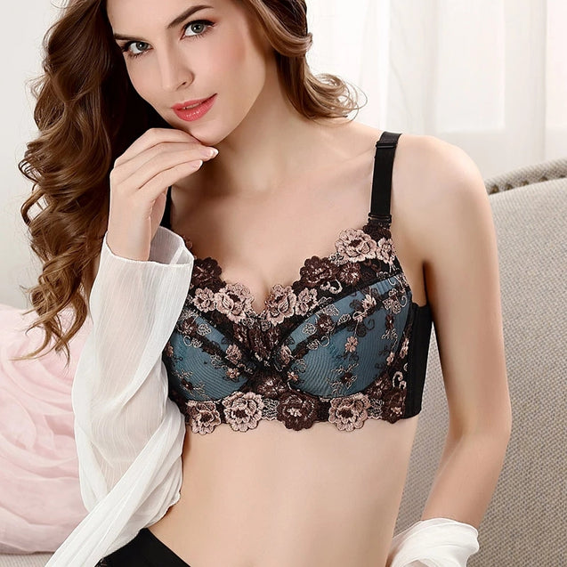 Embroidered Sexy Comfy Supportive Bra For Women