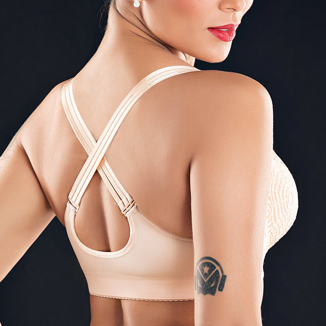Front Closure Wireless Crisscross Straps Back Bras