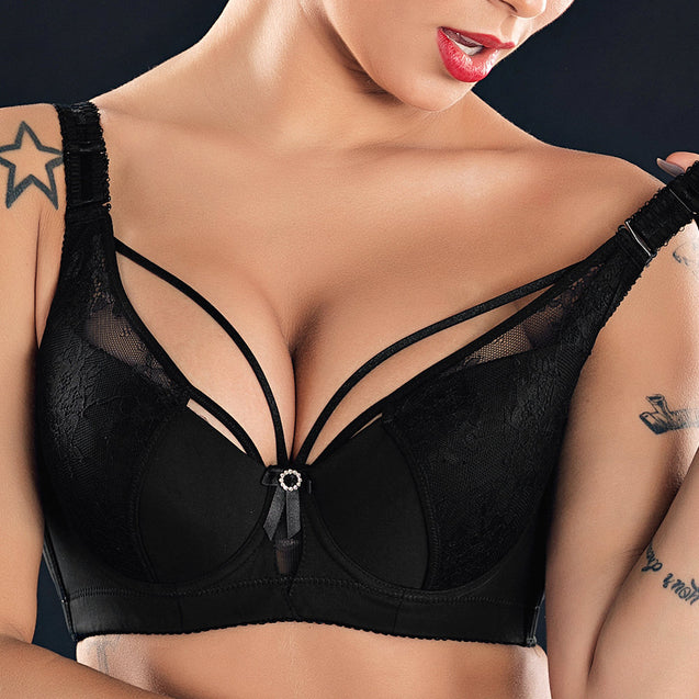Sexy Push Up Lightly Lined Harness Bra
