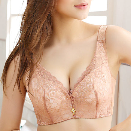 Push Up Lace Unlined Adjustable Side Support Bras