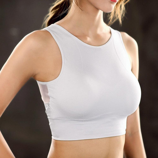 Wireless Sweat Absorption Cotton Sports Bra