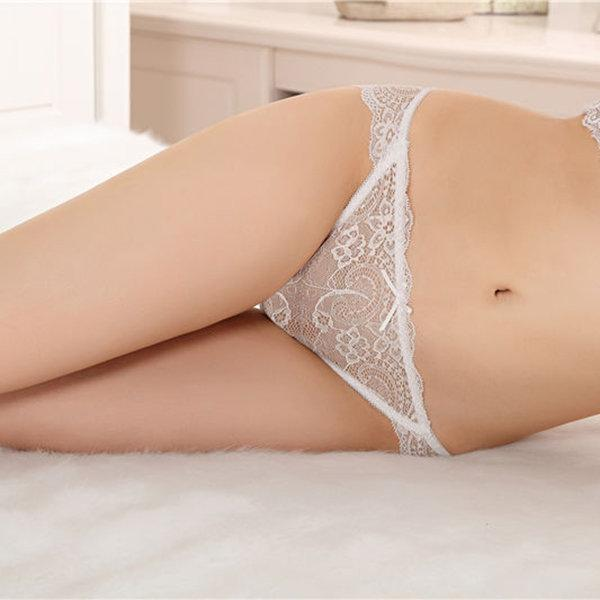 Sexy See Through Lace Low Rise Cotton Crotch Panties