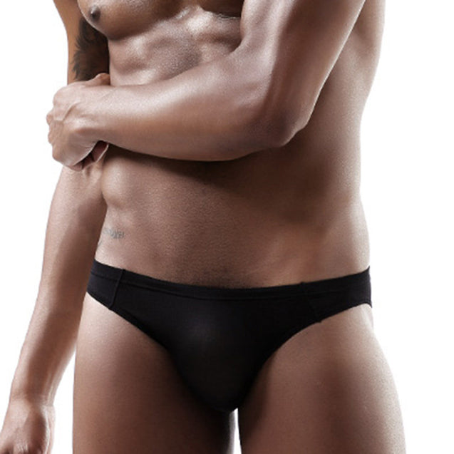 Thin Seamless Ice Silk 3D Pouch Design Elastic Brief for Men