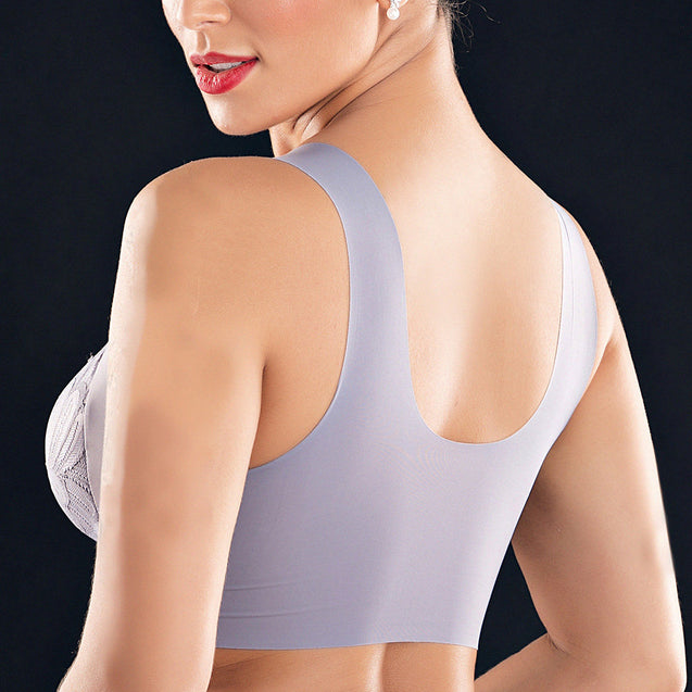 Lace Full Coverage Wireless Seamless Side Support Bras