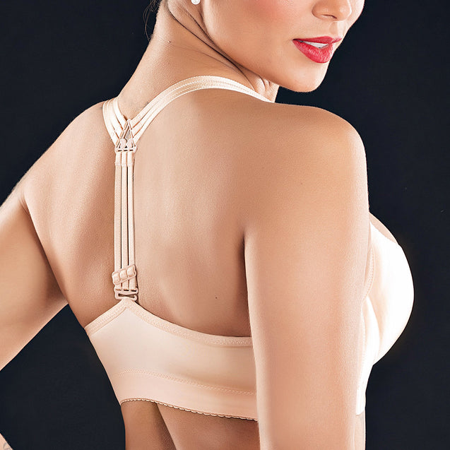 Front Closure Strappy Y-Shape Back Deep Plunge Wireless Bras