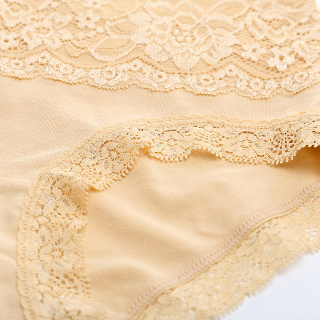 High-waist Lace Breathable Briefs