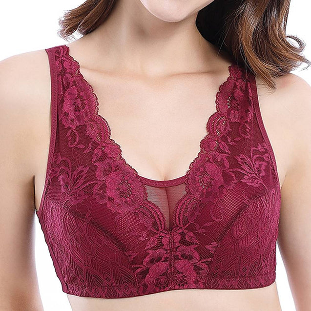Wireless Lace Full Cup Adjustable Cami Bras