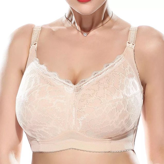 Soft Front Button Wireless Nursing Bra