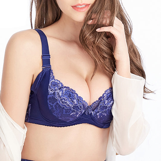 Full Cup Adjustment Bra - Nude/ Black/ Blue
