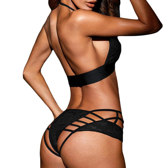 Halter Lace Hollow Backless Sexy Lingerie Brasets
