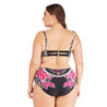 Plus Size High Waisted Print Push Up Bikinis