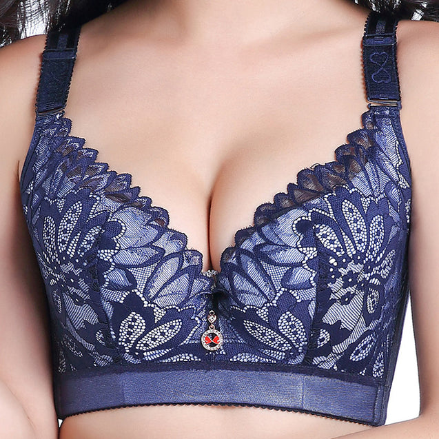 Thin Cotton Cup Lace Bra