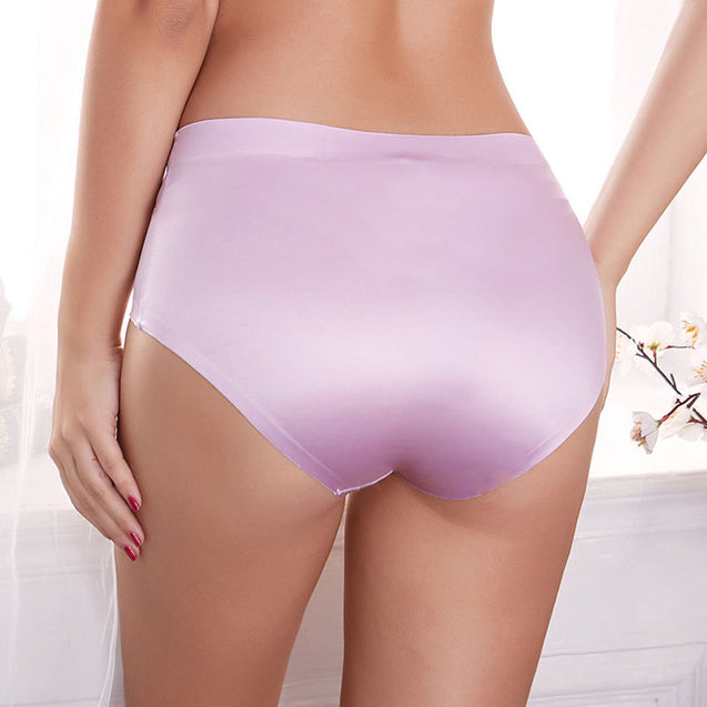 Hip Lifting Breathable Seamless Stretchy Mid Waist Panties