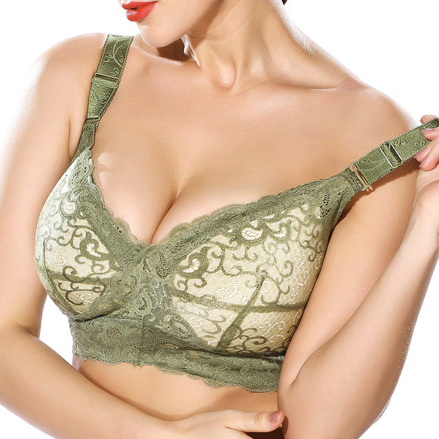 Lace Wireless Breathable Thin Full Cup G Cup Bra