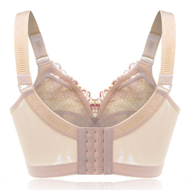Wireless Embroidery Unlined Full Cup Bras